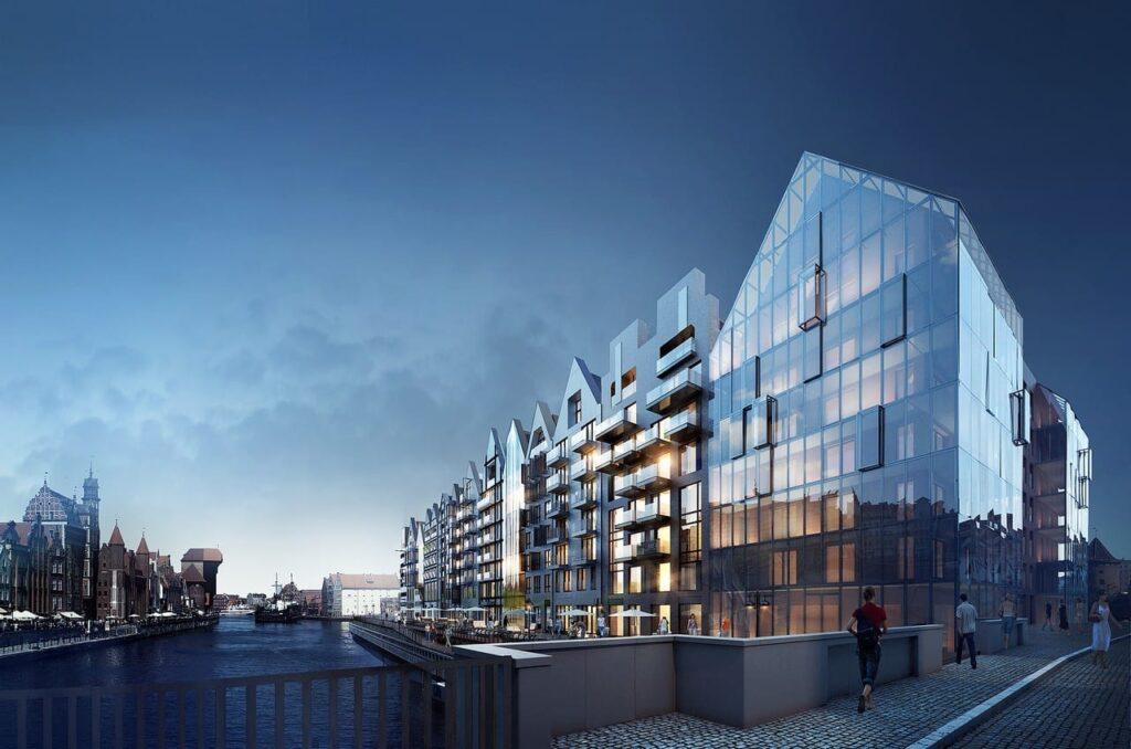 Gdańsk – budowa DEO PLAZA na Wyspie Spichrzów