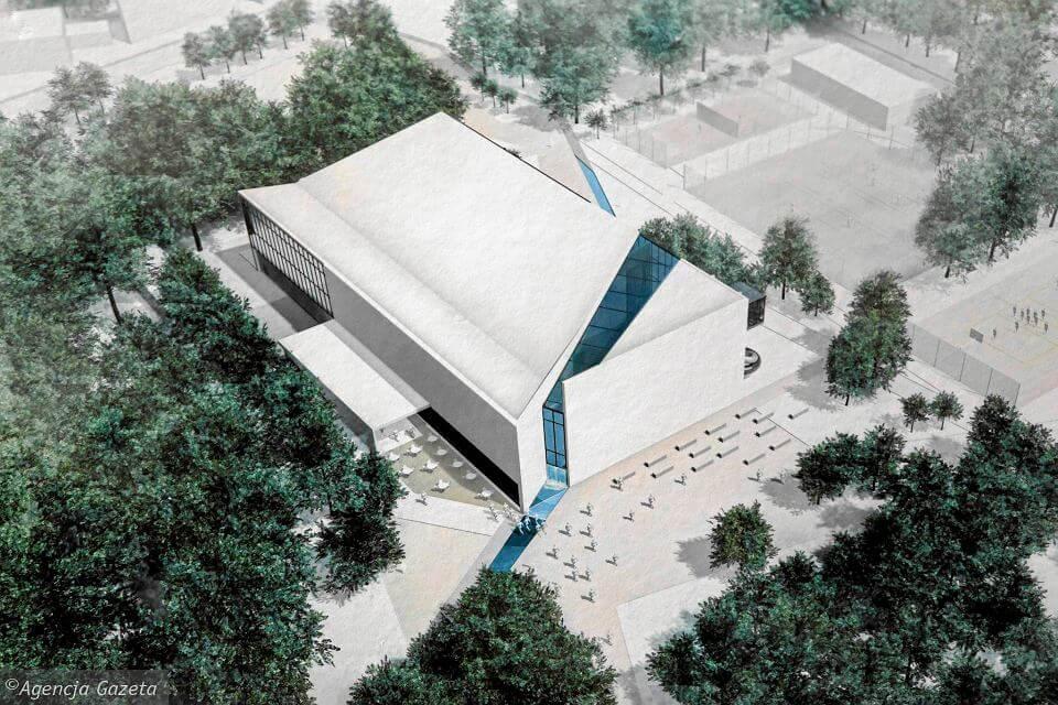 Toruń – kontenery Mobilbox przy budowie nowego basenu